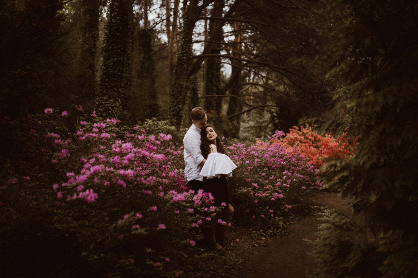ewelina zieba sesja narzeczenska kwiaty warszawa 02