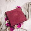ewelina zieba tradycyjny album na zdjecia malinowy roz ze zlotym napisem milosc 11